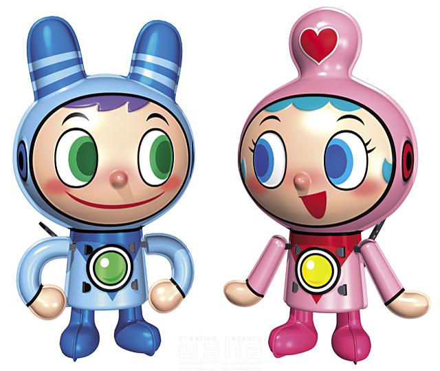 イラスト&写真のストックフォトwaha(ワーハ) キャラクター、子供、キャラクター、リアル、ブリキのおもちゃ、ゼンマイ仕掛け、ゼンマイ人形、男の子、女の子、ロボット、友達、宇宙服、元気 川野 光弘 14-1181c
