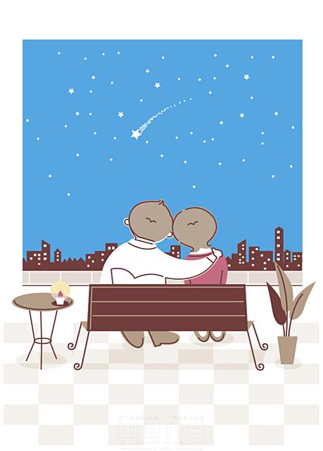 人物 夫婦 カップル 代 30代 屋内 住宅 部屋 見る 星 流れ星 空 夜 後ろ姿 イラスト作品紹介 イラスト 写真のストックフォトwaha ワーハ カンプデータは無料