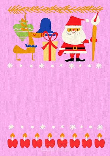 イラスト&写真のストックフォトwaha(ワーハ) 人物、サンタクロース、クリスマス、トナカイ、プレゼント 大野 和夫 18-5945b