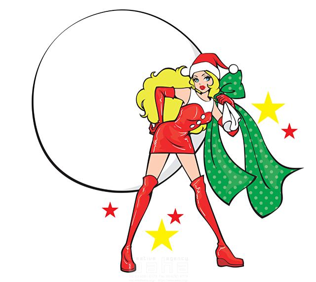 人物 女性 クリスマス サンタガール 袋 プレゼント イラスト作品紹介 イラスト 写真のストックフォトwaha ワーハ カンプデータは無料