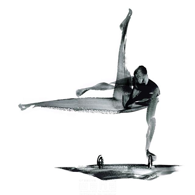 イラスト&写真のストックフォトwaha(ワーハ) スポーツ、人物イメージ、オリンピック、体操競技、あん馬、大会、パワフル、男性、競技、選手 SOICHI 19-1608c