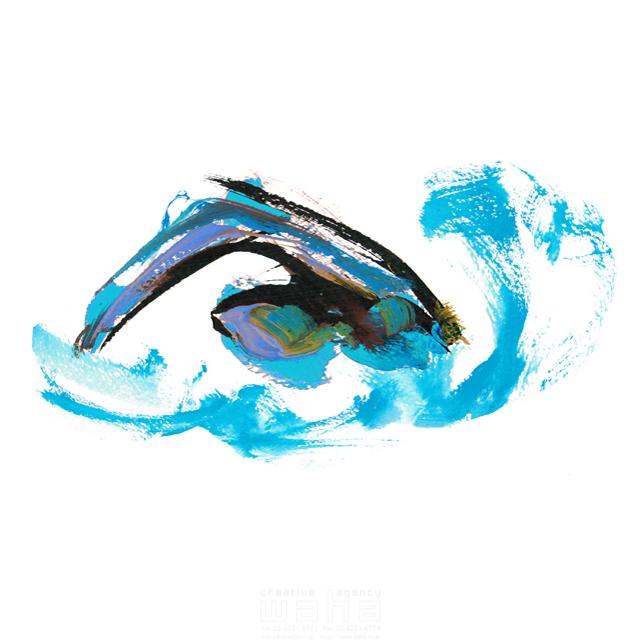 イラスト&写真のストックフォトwaha(ワーハ) スポーツ、人物イメージ、オリンピック、水泳、泳ぐ、大会、パワフル、男性、競技、夏、競争、選手 SOICHI 19-1612b