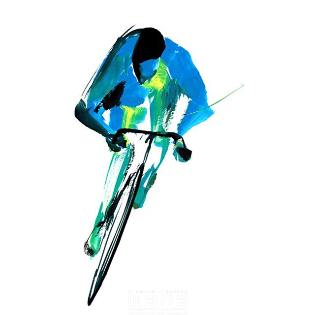 イラスト&写真のストックフォトwaha(ワーハ) スポーツ、人物イメージ、オリンピック、トライアスロン、自転車、大会、パワフル、男性、競技、マウンテンバイク、ロードレース、競争、選手 SOICHI 19-1613c