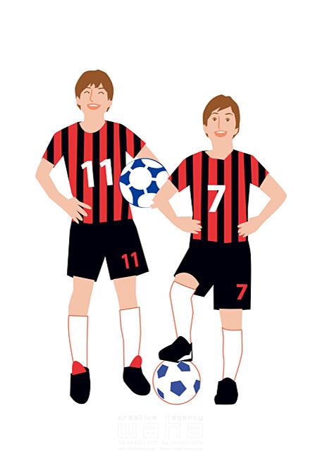 イラスト&写真のストックフォトwaha(ワーハ) スポーツ、人物、中学生、サッカー、チーム、男の子、球技、部活、高校生、仲間 都筑 みなみ 19-1651b