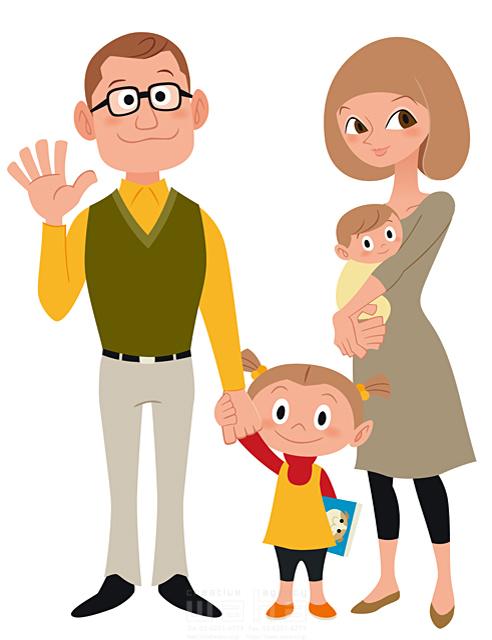 イラスト&写真のストックフォトwaha(ワーハ) シティライフ、家族、笑顔、男性、女性、女の子、夫婦、赤子、赤ちゃん、買物、眼鏡、ショッピング、幸せ、笑顔、育児 両口 和史 19-1948c