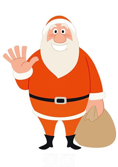 イラスト&写真のストックフォトwaha(ワーハ) 人、人物、男性、大人、シニア、中高年、おじさん、老人、おじいさん、クリスマス、サンタクロース、プレゼント、ハートフル、愛情、イベント、記念日、冬 両口 和史 19-2052b