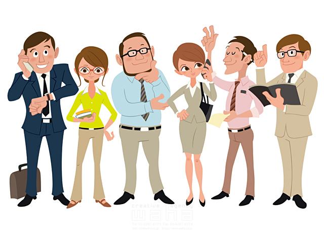 イラスト&写真のストックフォトwaha(ワーハ) 人、人物、大人、男性、女性、スーツ、ビジネス、ビジネスマン、ビジネスウーマン、サラリーマン、キャリアウーマン、仕事、働く人、IT系、考える、営業、クリエイター、経営者、プレゼンテーション、会議、コミュニケーション 両口 和史 19-2087c