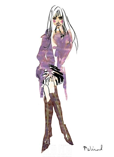 イラスト&写真のストックフォトwaha(ワーハ) 水彩、人、人物、女性、大人、若者、おしゃれ、ファッション、アパレル、モード、スタイリッシュ レリソウル 19-2127b