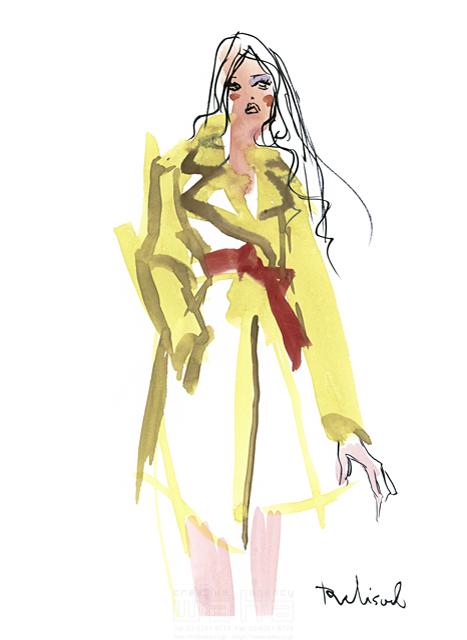 イラスト&写真のストックフォトwaha(ワーハ) 水彩、人、人物、女性、大人、若者、おしゃれ、ファッション、アパレル、モード、スタイリッシュ レリソウル 19-2134b