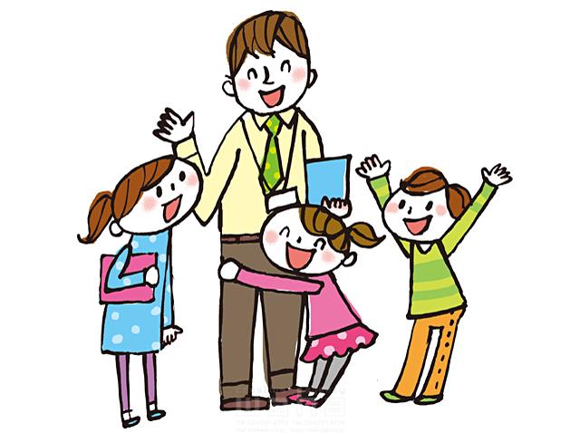 イラスト&写真のストックフォトwaha(ワーハ) 人、人々、人物、男性、女性、大人、学習塾、教師、先生、男の子、女の子、小学生、子供、学校、スクールライフ、元気、笑顔、信頼、仲良し、集合 きつ まき 19-2156b