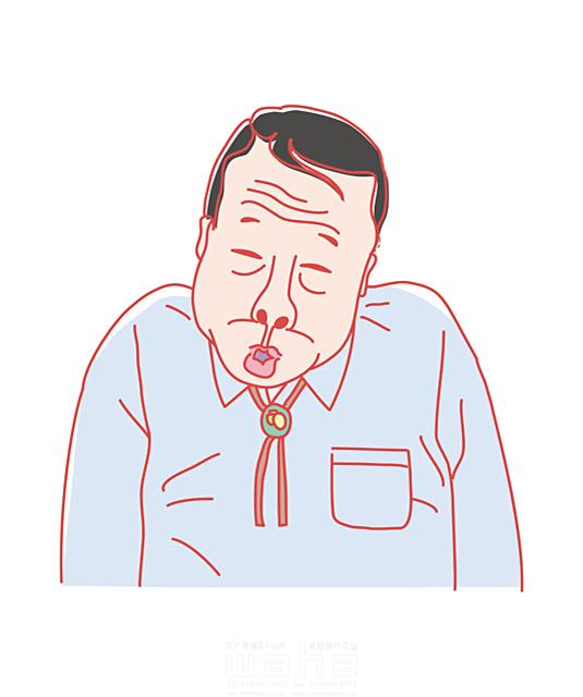 イラスト&写真のストックフォトwaha(ワーハ) 人、人物、男性、おじさん、中高年、日本人、会話、コミュニケーション どうぐち まこと 19-2225b