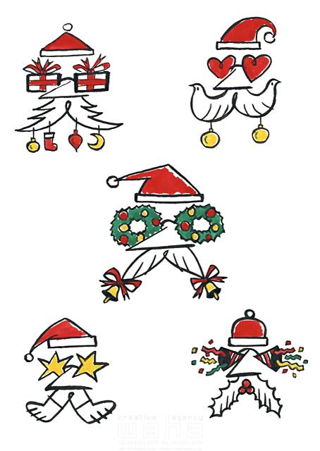 イラスト&写真のストックフォトwaha(ワーハ) 人、人物、男性、大人、シニア、サンタクロース、クリスマス、飾り、オーナメント、冬、楽しい、面白い、明るい 徳光 和司 19-2286b
