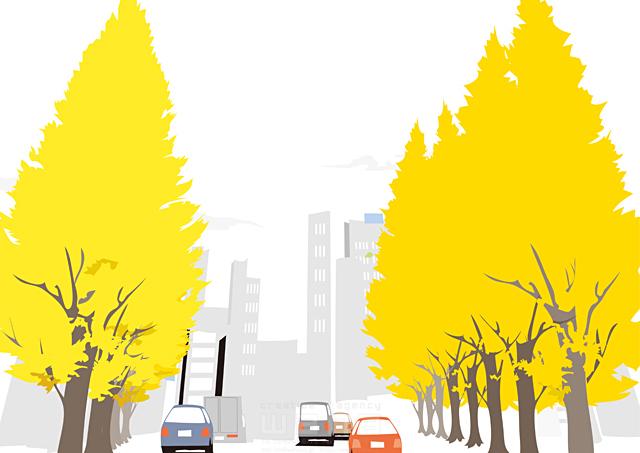 イラスト&写真のストックフォトwaha(ワーハ) 風景、生活、暮らし、日常、道路、車、街、街並み、自然、木、並木、都会、ビル、建物 都筑 みなみ 19-2433b