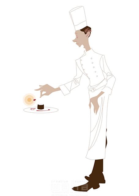 イラスト&写真のストックフォトwaha(ワーハ)―カンプデータは無料 人、外国人、男性、大人、シェフ、コック、料理人、食事、働く人、キッチン、レストラン b-t 19-2448c