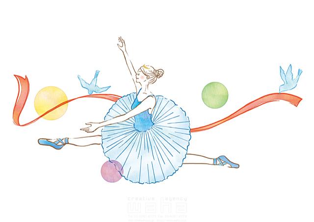 19-2537b 茅根 美代子 人、女性、大人、バレエ、バレリーナ、ダンス、踊る、ジャンプ、元気、パワフル