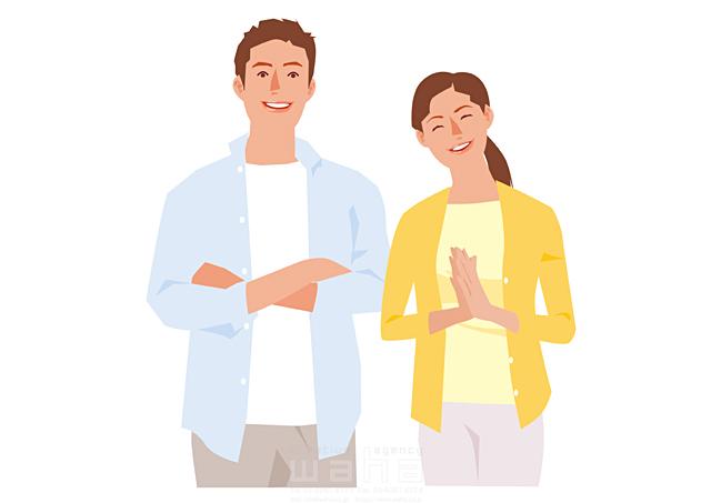 イラスト&写真のストックフォトwaha(ワーハ) 人、人々、複数、女性、男性、大人、夫婦、主婦、奥さん、カップル、家族、30代、笑顔、コミュニケーション、会話、喜ぶ、嬉しい、賛成 都筑 みなみ 19-2629b